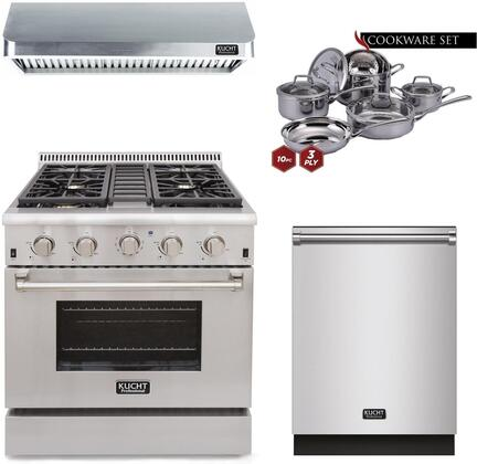 Kucht Professional 810580 Kitchen Appliance Package Stainless Steel, main image