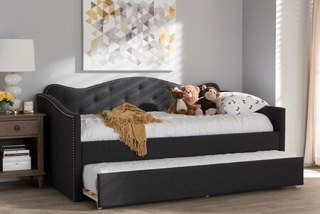 Baxton Studio 170.65 lbs. BBT6577DARKGREYDAYBED Bed Gray, 7831 11