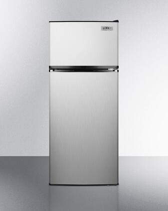 Summit  FF1159SS Top Freezer Refrigerator Stainless Steel, Main Image