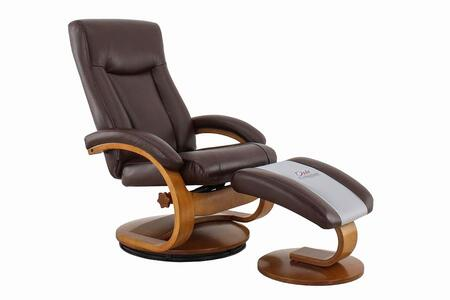 Hamilton Collection HAMILTON054099 Recliner and Ottoman with Swivel Base  Memory Foam Seating  Adjustable Headrest and Quality Breathable Air Leather