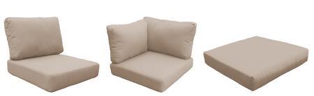 TK Classics Barbados CUSHIONSBARBADOS12bWHEAT Cushion Option Brown, Main Image