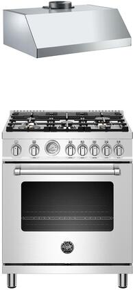Bertazzoni  1000077 Kitchen Appliance Package Stainless Steel, main image