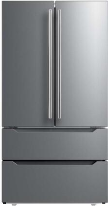 Midea Mrq23b4ast 36 Inch Stainless Steel French Door Refrigerator In Stainless Steel Appliances Connection