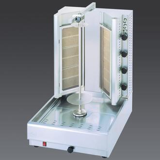 DG12V N Turbo Gas Gyros and Shawarma Machine 12 Burners with Thermostatic