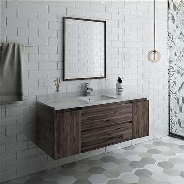 Formosa Collection FVN31-123012ACA 54″ Wall Hung Modern Bathroom Vanity with