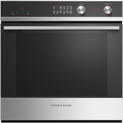 Fisher Paykel Ob24scdex1 Contemporary Series 24 Inch Stainless Steel With Black Gl 3 Cu Ft Total Capacity Electric Single Wall Oven Liances Connection