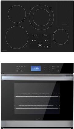 """2 Piece Kitchen Appliance Package with SDH3042DB 30"""" Electric Induction Cooktop and SWA3052DS 30"""" Electric Single Wall Oven in"""