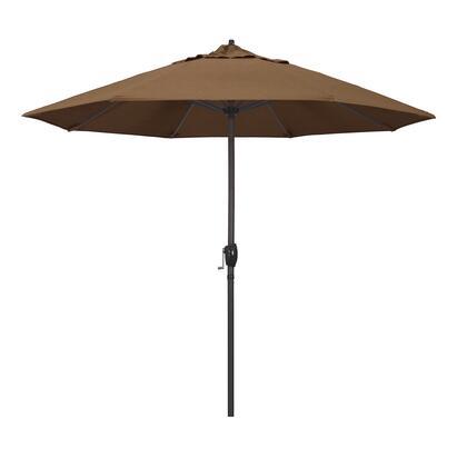Casa Collection ATA908117-5488 9′ Patio Umbrella With Bronze Aluminum Pole Aluminum Ribs Auto Tilt Crank Lift With Sunbrella 1A Teak