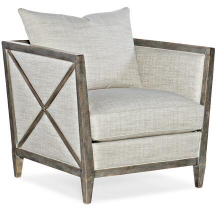 Hooker Furniture Sanctuary 2 58655200395 Accent Chair Beige, Silo Image