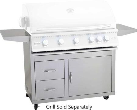 """CART-SIZPRO-40 Sizzler Pro Series Freestanding Cart for 40"""""""" Grill  in Stainless -  Summerset Grills, CARTSIZPRO40"""