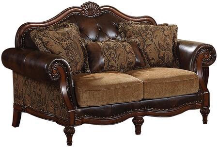 Acme Furniture Dreena 05496 Loveseat Brown, Loveseat