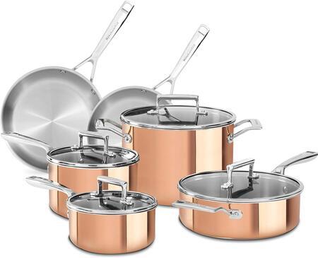 KC2PS10CP Tri-Ply Copper 10-Piece