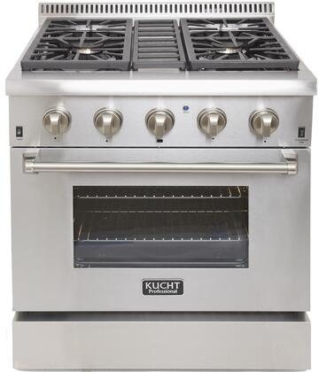 Kucht Professional KRD306FS Freestanding Dual Fuel Range Stainless Steel, Main Image