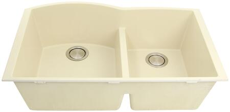 PR6040-S-UM Plymouth Collection Sink 33″ Undermount Sink with Double Bowls  Sound Absorption  Scratch Resistant and Heat Resistant  in
