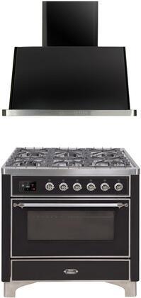 Ilve  1260260 Kitchen Appliance Package Black, main image
