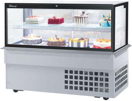 Turbo Air  TBP6046FDN Display and Merchandising Refrigerator Stainless Steel, TBP6046FDN Angled View