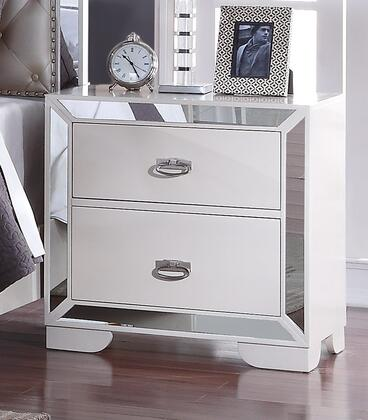 Cosmos Furniture Gloria GLORIANITESTAND Nightstand Silver, Main Image