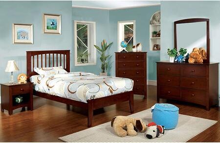 Furniture of America Pine Brook CM7908CHTBDMCN Bedroom Set Brown, Main Image
