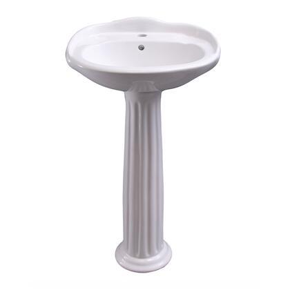3-3051WH Arianne 18″ Pedestal Lavatory 1 Faucet Hole