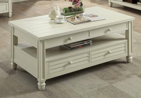 Furniture of America Suzette CM4615WHC Coffee and Cocktail Table White, Main Image