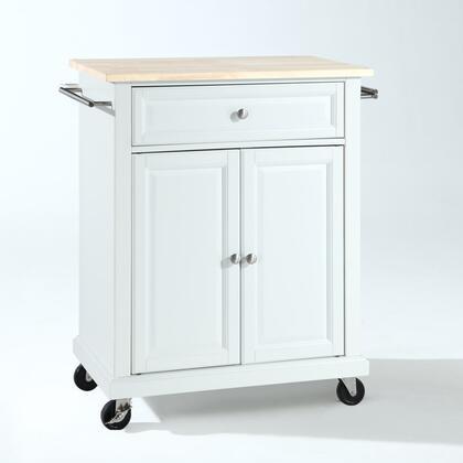 Crosley Furniture Compact Kitchen KF30021EWH Kitchen Cart White, KF30021EWH W1