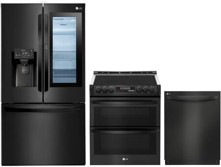 LG 1115462 Kitchen Appliance Package & Bundle Black Stainless Steel, main image