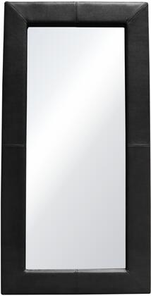 """Luxe_Collection_LUXEMIBL_42""""_Free-Standing_Mirror_with_Locking_Easel_Mechanism__PU_Wrapped_Frame__Stitching_Detail_and_Contemporary_Style_in"""