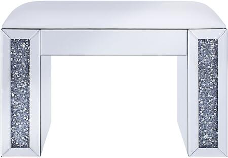 Acme Furniture Noralie 90467 Vanity Stool White, Front View