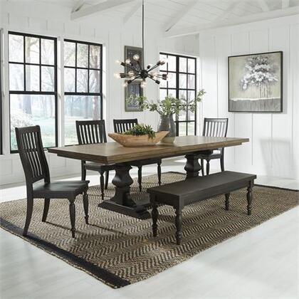 Liberty Furniture Harvest Home 879DR6TRS Dining Room Set Brown, 879 dr 6trs Main