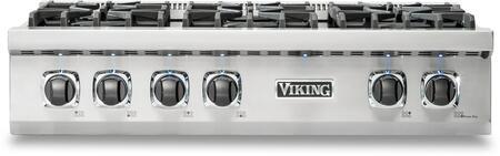 Viking 5 Series VRT5366BSSLP Gas Cooktop Stainless Steel, Main Image