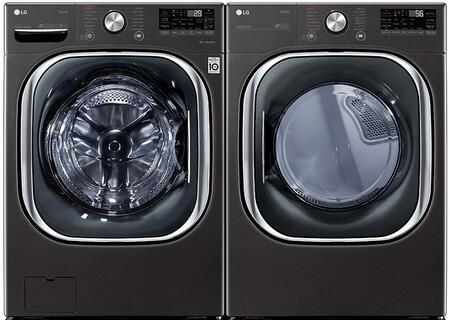 LG  1289201 Washer & Dryer Set Black, 1