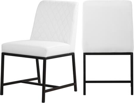 Meridian Bryce 918WHITEC Dining Room Chair White, 918WHITEC Main Image