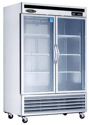 KBSR-2G 54″ Glass Door Refrigerator with 44 cu. ft. Capacity  Bottom Mount Compressor  LED Interior Lighting and Open Door Alert in Stainless