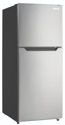 DFF101B1BSLDB Top Freezer Refrigerator with 10.1 cu. ft. Total Capacity  Frost Free  Adjustable Glass Shelves  in Stainless