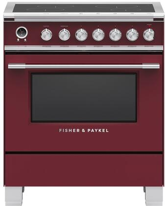 Fisher Paykel Classic OR30SCI6R1 Freestanding Electric Range Red, OR30SCI6R1 Classic Induction Range