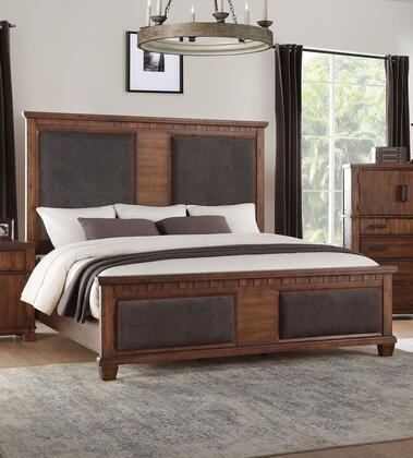 Acme Furniture Vibia 27160Q Bed Brown, Angled View