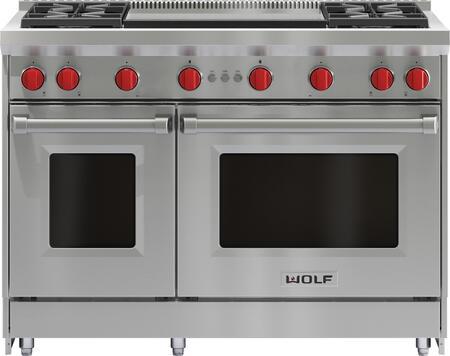 Wolf GR484DG Freestanding Gas Range Stainless Steel, Main Image