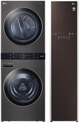 LG  1329635 Washer & Dryer Set Black, Main image