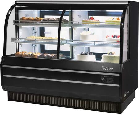 Turbo Air TCGB60COBN Display and Merchandising Refrigerator Black, TCGB60COBN Angled View