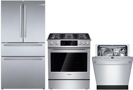 Bosch  1139167 Kitchen Appliance Package Stainless Steel, main image