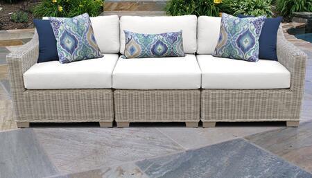 TK Classics COAST03CWHITE Outdoor Patio Sofa, COAST 03c WHITE