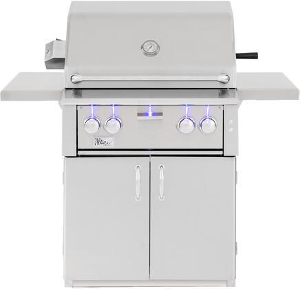 ALT30R-LP 30″ Alturi Freestanding Grill in Liquid Propane with 780 sq. inch Cooking Area  2 Cast Red Brass Main Burner  1 Rotisserie Back Burner  1