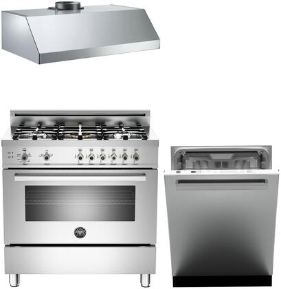 Bertazzoni Professional 1226446 Kitchen Appliance Package Stainless Steel, Main image