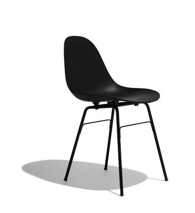 TA Collection TO-1711B-1502B Upholstered Side Chair/Er Base Black Powder Coated/Black