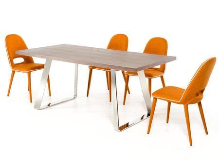 VIG Furniture Modrest Gala VGEUMC6097DTCH Dining Room Set Brown, 1