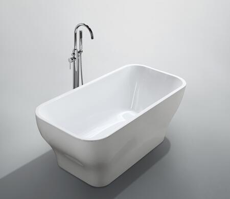 Bellaterra Home Novara BA6829 Bath Tub White, Main Image