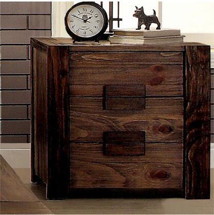 Furniture of America Janeiro CM7628N Nightstand Brown, 1