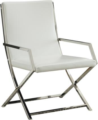 Acme Furniture Rafael 59775 Accent Chair White, Accent Chair