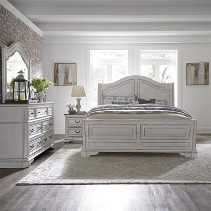 Liberty Furniture Magnolia Manor 244BRKSLDMN Bedroom Set White, 244 br qsldmn