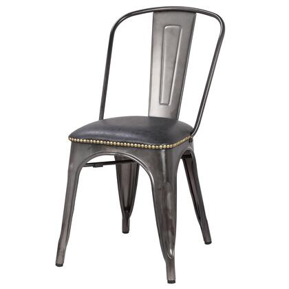 9300027-240 Metropolis PU Leather Metal Side Chair Set of 4  in Vintage